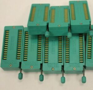 Lot Of 7 3m Textool 228 3345 28 Pin Zif Sockets New