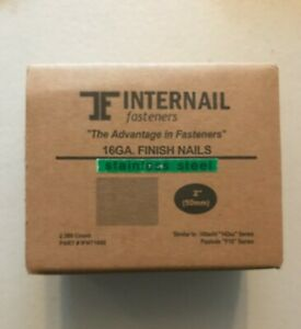 Internail Fasteners 16ga 2 Finish Nails Stainless Steel 2500 Count