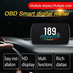 Us P12 Car Driving Onboard Computer Obd 2 Digital Meter Gauge Code Reader