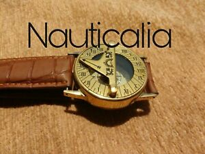 Compass Marine 2 Vintage Brass Sundial Hand Wrist Watch Navigation Nautical