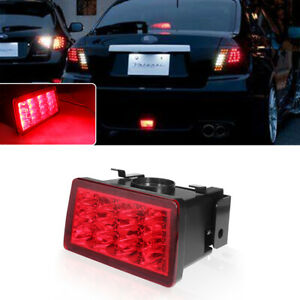 For 2011 2016 Wrx Sti Xv F1 Style Red Lens Red Led Flasher 3rd Brake Light Lamp