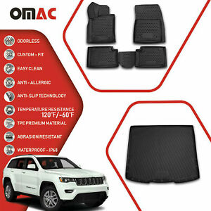 Floor Mats Cargo Liner 3d Molded Black Set For Jeep Grand Cherokee 2011 21