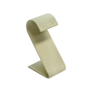 Jewelry Display Holder Curved Earring Display Stand Soft Linen Beige 5pc
