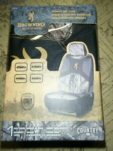 Browning Low Back Seat Cover W Mossy Oak Country Camo Accents Break Up Country