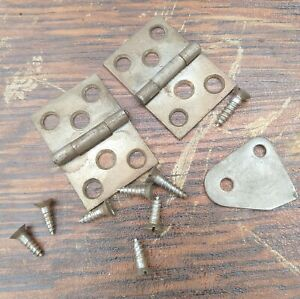 Square Side Table Hinges From A White Rotary Treadle Sewing Machine Cabinet
