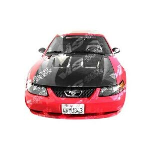 Vis Racing Carbon Fiber Hood Heat Extractor Style For 94 98 Ford Mustang 2dr