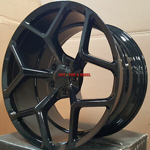 22 Stagger Wheels Tires Fiit Chevy Camaro Zl1 Gloss Black Z28 Rims Rs Ss Sale