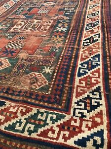 Antique Caucasian Karachopf Kazak Rug Early Piece 3 7 X 5 7 19th C