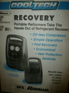 Robinair 25200b Cooltech Portable Refrigerant Recovery Machine New Open Box