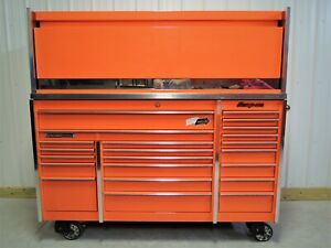 Snap On Orange Krl1023 Tool Box Stainless Steel Top Hutch
