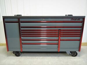 Snap On Storm Grey Red Trim 84 Epiq Tool Box Toolbox Armor Edge Power Top
