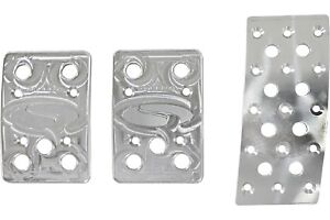 Steeda Aluminum Mustang Pedal Covers 3 Piece curved Gas 79 04 Manual