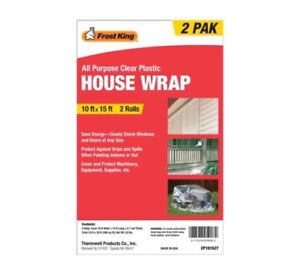 Frost King 2p101527 House Wrap 10 Ft X 15 Ft Pk2