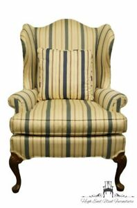Pennsylvania House Advantage Striped Upholstered Wing Back Accent Arm Chair