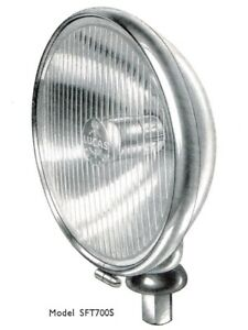 Lucas Sft700s Fog Lamp Lens And Reflectors Early Fluted Style For Jaguar Xk120