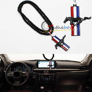 1x Jdm Pony Horse Car Rearview Mirror Hanging Ornament Pendant For Ford Mustang