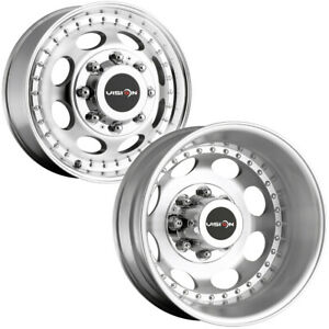 Set Of 6 vision 181h Hauler Dually 19 5 8x6 5 Machined Wheels lugs Included