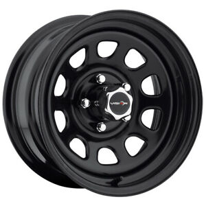 4 Vision 84 D Window 15x7 5x4 5 6mm Gloss Black Wheels Rims 15 Inch