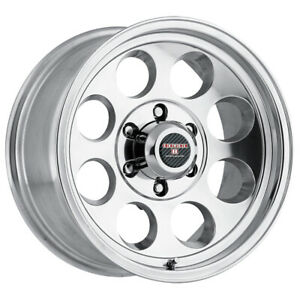 4 Level 8 Tracker 17x8 5 5x127 5x5 6mm Polished Wheels Rims