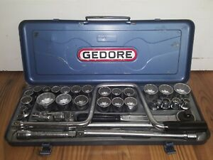 Vintage Gedore Tool Set In Original Blue Case Rare