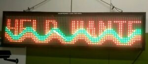 Signtronix Indoor Led Programmable Sign Scrolling Message 42 X 11 Restaurant Etc