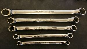 Snap On 12 Point Sae Flank Drive Standard 10 Offset Box Wrench 5 Piece Set