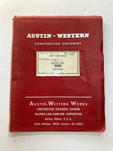 Austin Western Parts Manual Pacer 300 Super Power Grader