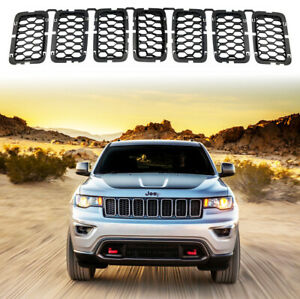 For 2017 2020 Jeep Grand Cherokee Black Grill Insert Honeycomb Mesh Front Grille