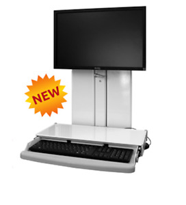 Healthcare dental Office vt21 Low profile Sit stand Workstation keyboardtray icw