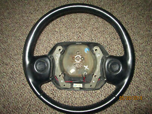 1994 1995 1996 1997 Dodge Ram Black Leather Steering Wheel 1500 2500 3500 Oem