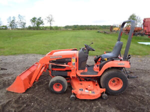 2004 Kubota Bx2230 Tractor 4wd Hydro La211 Loader 60in Belly Mower 1013 Hrs