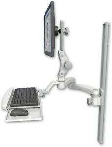 Healthcare dental Office ultra 550 Mount W bent Keyboard Tray 20 Double arm icw