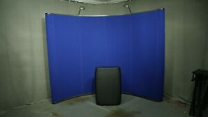 10 Blue Portable Trade Show Booth Display Pop up w Podium