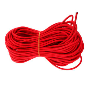 Perfeclan 6mm Polyester Coated Rubber Elastic Shock Bungee Cord Rope Tie Down