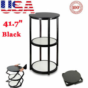 41 7 Round Portable Aluminum Spiral Counter Display Case With Shelves Panels