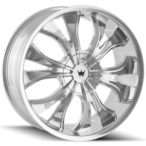 4 mazzi 342 Hustler 18x7 5 5x108 5x4 5 40mm Chrome Wheels Rims 18 Inch