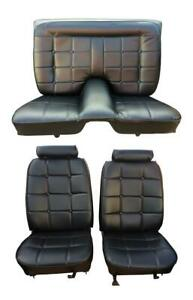 Mustang Ii Vinyl Seat Upholstery 1974 1977 Square Pattern Design With Buttons