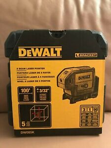 Brand New Dewalt Dw085k 100 Ft Red Self leveling 5 spot Laser Level