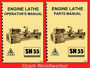 Tos Sn55 Engine Metal Lathe Owner s Instructions And Parts Manuals 1271