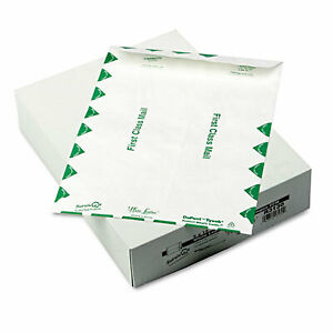 White Leather Tyvek Mailer First Class 9 X 12 White 100 box R3130 1 Each