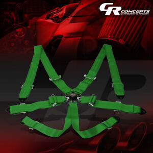 Nrg Universal 6 Point Cam Lock 2 Width Safety Racing Seat Belt Harness Sbh 6pcgn