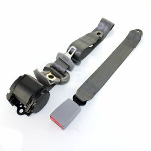 1x 3 Point Harness Adjustable Color Grey Seat Belt Strap Car For Ford Escape