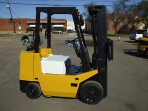 Tcm Fcg25 5000lb Gas Or Lpg Forklift W Sideshift 3 stage Cushion Tire 189 h