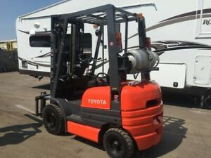 Toyota 42 6fgu15 3000lbs Lpg Forklift Solid Pneumatic Tires 189 Ht Side Shift