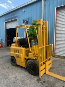 Allis Chalmers Fp 40 5000lbs Lpg Propane Forklift 144 Max Lift Pneumatic Tires