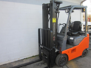 Toyota 8fgu15 Gas 3000lbs Forklift 119 Max Height Cushion Tires W Side Shift