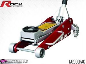 Rock Aluminium Steel Hydraulic Racing Jack 2000kg Load 460mm Raised Tj2000rac