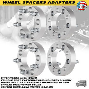 4x 1 Wheel Spacers 5x4 5 Fit Ford Mustang Explorer Lincoln Mercury Jeep 1 2