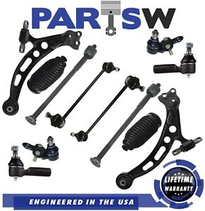 Kit For 1997 2001 Toyota Camry 12 Pc Control Arms Tie Rods Ball Joints