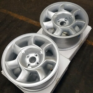 17 Silver Mustang 93 Cobra Style Wheels 2 Driver Side 17x8 5 4x108 79 93 Blems